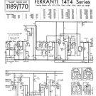 Ferranti 14T4 Television Service Sheets Schematics Set