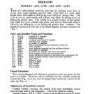 Ferranti 14T6 Television Service Sheets Schematics Set