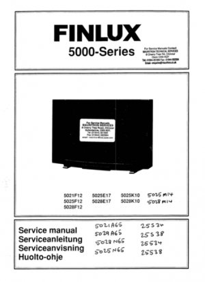 Finlux 5029A65 Television Service Manual