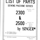 Singer 2210 Sewing Machine Parts Lists and Exploded Views etc