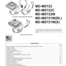Sharp MDMS721 (MD-MS721) (MDMS-721) CD Player Workshop Service Manual