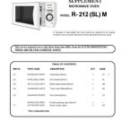 Sharp R212 (R-212) (SL) M Microwave Oven Service Manual
