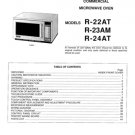 Sharp R24AT (R-24AT) Microwave Oven Workshop Service Manual