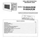 Sharp R950A (R-950A) (W) (K) M Microwave Oven Workshop Service Manual
