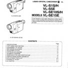 Sharp VLSE10 (VL-SE10) (VLSE-10) (S) (H) Camcorder Workshop Service Manual