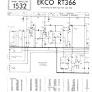 Ekco RT366 (RT-366) Tape Recorder Service Sheets Schematics etc