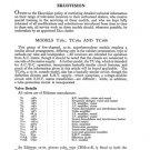 Ekco TC166 (TC-166) Television Service Sheets Schematics etc