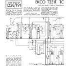 Ekco TC208 (TC-208) Television Service Sheets Schematics etc
