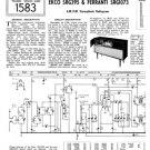 Ferranti SRG1073 (SRG-1073) Radiogram Service Sheets Schematics etc