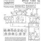 Ferranti T1034 (T-1034) Television Service Sheets Schematics etc