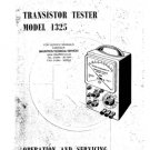 Cossor 1325 Transistor Tester Instructions Schematics Circuits Operating etc
