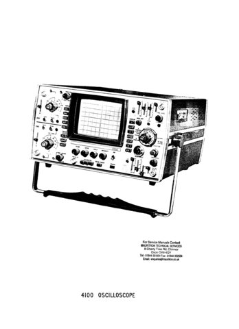 Cossor 4100 Oscilloscope Instructions Schematics Circuits Operating etc