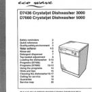 Hoover D7436 (D-7436) Crystaljet 3000 Dishwasher Operating Guide
