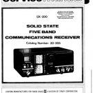 Radio Shack 20-205 Receiver Service Manual