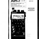 Sony AIR7 (AIR-7) Scanner Operating Guide User Instructions