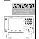 AOR SDU5600 (SDU-5600) Spectrum Display Operating Guide User Instructions