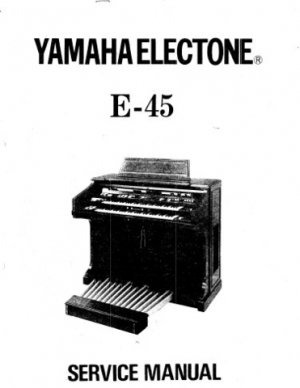 yamaha e45 e 45 electronic organ service manual. Black Bedroom Furniture Sets. Home Design Ideas