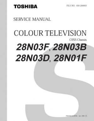 Toshiba 28N03B Television Service Manual with Schematics