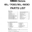 Yamaha EL500 (EL-500) Keyboard Service Manual with Schematics