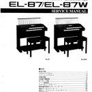 Yamaha EL87W (EL-87W) Keyboard Service Manual with Schematics