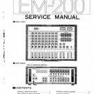 Yamaha EM200 (EM-200) Mixer Service Manual with Schematics