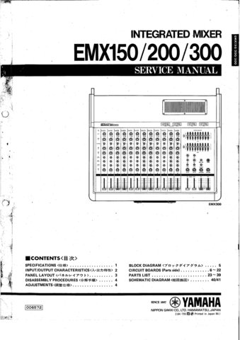 Yamaha Stagepas 300 Service Manual