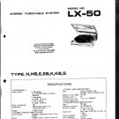 Aiwa LX50 (LX-50) Turntable Service Manual