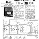 HMV 490 Vintage Wireless Service Sheets Schematics etc