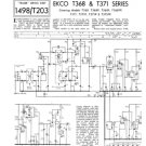 Ekco T371FP (T-371FP) Vintage Television Service Manual