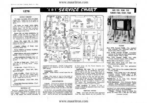 Ferranti TC1047 (TC1047) Vintage Television Service Manual
