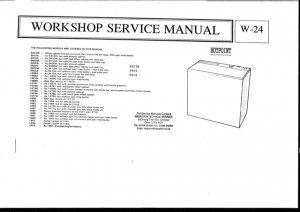 Hotpoint 14890 Twin Tub Washing Machine Service Manual