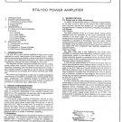 Radford STA100 (STA-100) Power Amplifier Service Manual
