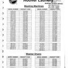 Hoover AB115 (AB-115) Washing Machine Service Manual