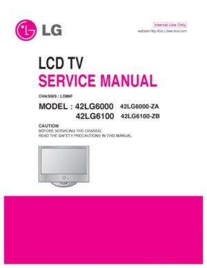 LG 42LG6000 Technical Repair Schematics Circuits Service Manual
