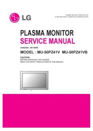 LG MU50PZ41V (MU-50PZ41V) Technical Repair Schematics Circuits Service Manual