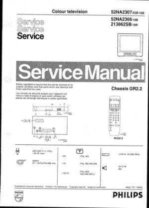 Philips 213862SB 19R Technical Repair Schematics Circuits Service Manual