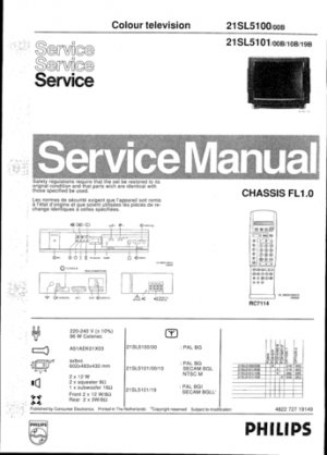 Philips 21SL5100 00B Technical Repair Schematics Circuits Service Manual