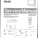 Philips 25MN1553 30B 33B 36B Technical Repair Schematics Circuits Service Manual