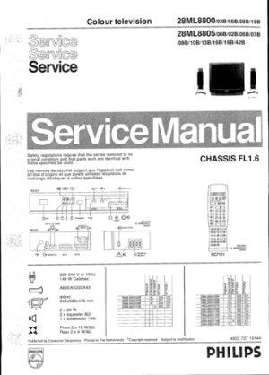 Philips 28ML8800 02B 05B 08B 19B Technical Repair Schematics Circuits Service Manual
