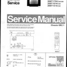 Philips 28ST1734 22B 28B Technical Repair Schematics Circuits Service Manual