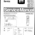 Philips 63NA1047 22B 23B 29B 31B 33B 36B Technical Repair Schematics Circuits Service Manual