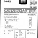 Philips 63NA1076 38B Technical Repair Schematics Circuits Service Manual