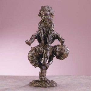 Frolicking children garden statue