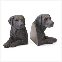 Black Labradors Bookends 36987