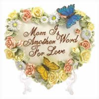 Heart Shaped Butterfly Plaque for Mom