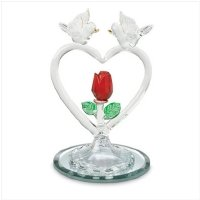 Glass Doves and Heart