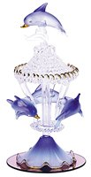 Color Glass Carousel Dolphins 30308