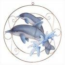 Capiz Dolphins Suncatcher Wall Plaque 31695