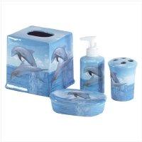 Dolphin Design Bath Set Soap Soap Dish 33836