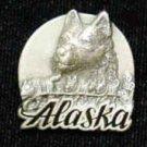 Pewter 3-d Collector Pin - Alaska Dog Team PN2118E